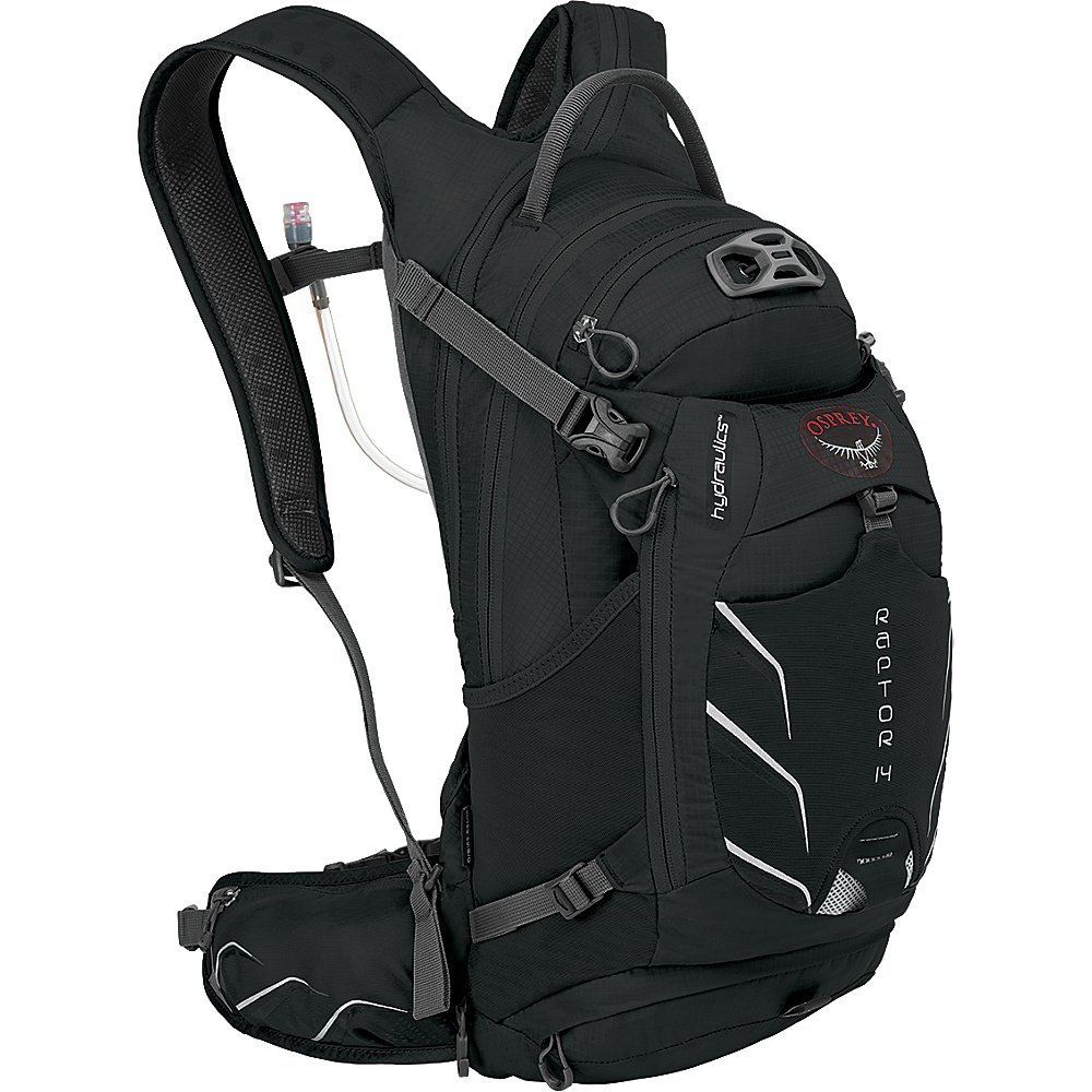 Osprey Raptor 14 Biking Backpack Black - Osprey Day Hiking Backpacks - Outdoor, Day Hiking Backpacks