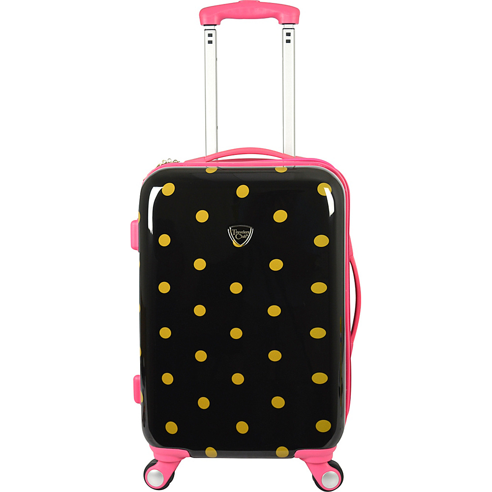 """Travelers Club Luggage Modern 20"""" Hardside Expandable Carry-On Spinner Polka Dot - Travelers Club Luggage Hardside Carry-On"""