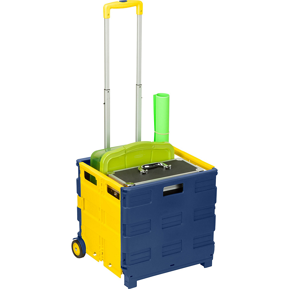 Honey Can Do Rolling Folding Utility Cart blue Honey Can Do Luggage Accessories