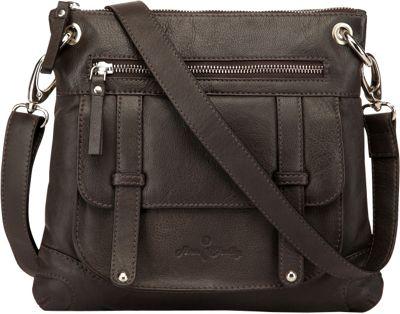 Ann Shelby Felice Leather Crossbody Bag Dark Brown - Ann Shelby Leather Handbags
