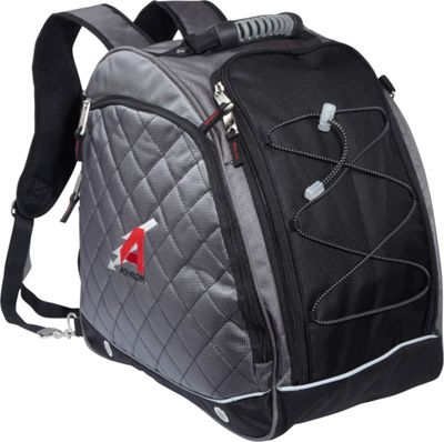 Athalon Heated Boot Bag Silver w/ Black - Athalon Ski and Snowboard Bags