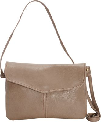 Victoria Leather M&M Crossbody Taupe - Victoria Leather Leather Handbags