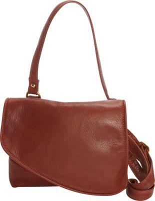 Victoria Leather Tulip Mini Crossbody Cognac - Victoria Leather Leather Handbags