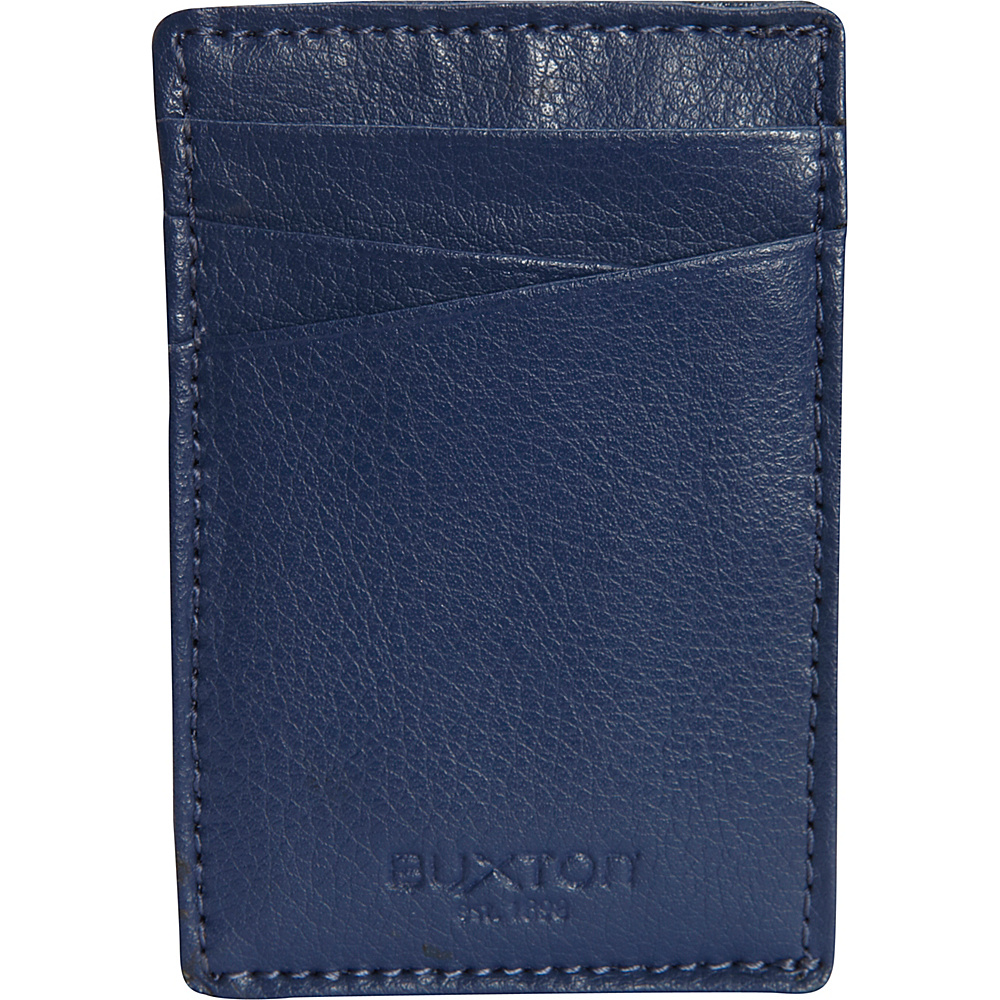 Buxton Addison RFID Front Pocket Money Clip Indigo - Buxton Mens Wallets - Work Bags & Briefcases, Men's Wallets