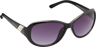Unionbay Eyewear Oval Rhinestone Sunglasses Black - Unionbay Eyewear Sunglasses