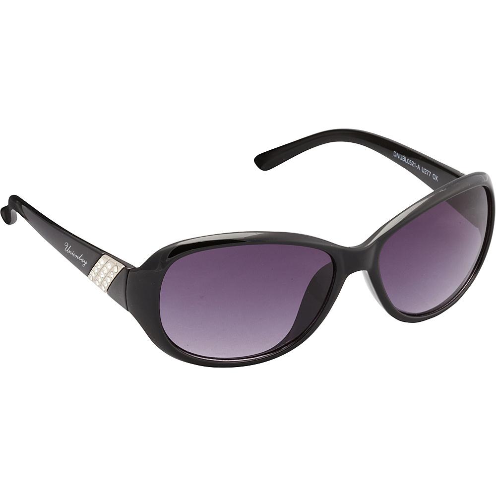 Unionbay Eyewear Oval Rhinestone Sunglasses Black Unionbay Eyewear Sunglasses