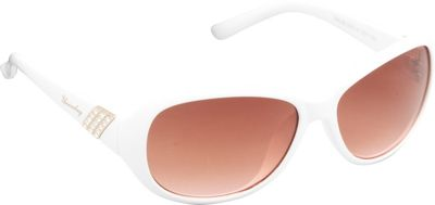 Unionbay Eyewear Oval Rhinestone Sunglasses White - Unionbay Eyewear Sunglasses