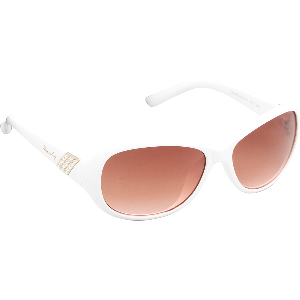 Unionbay Eyewear Oval Rhinestone Sunglasses White Unionbay Eyewear Sunglasses