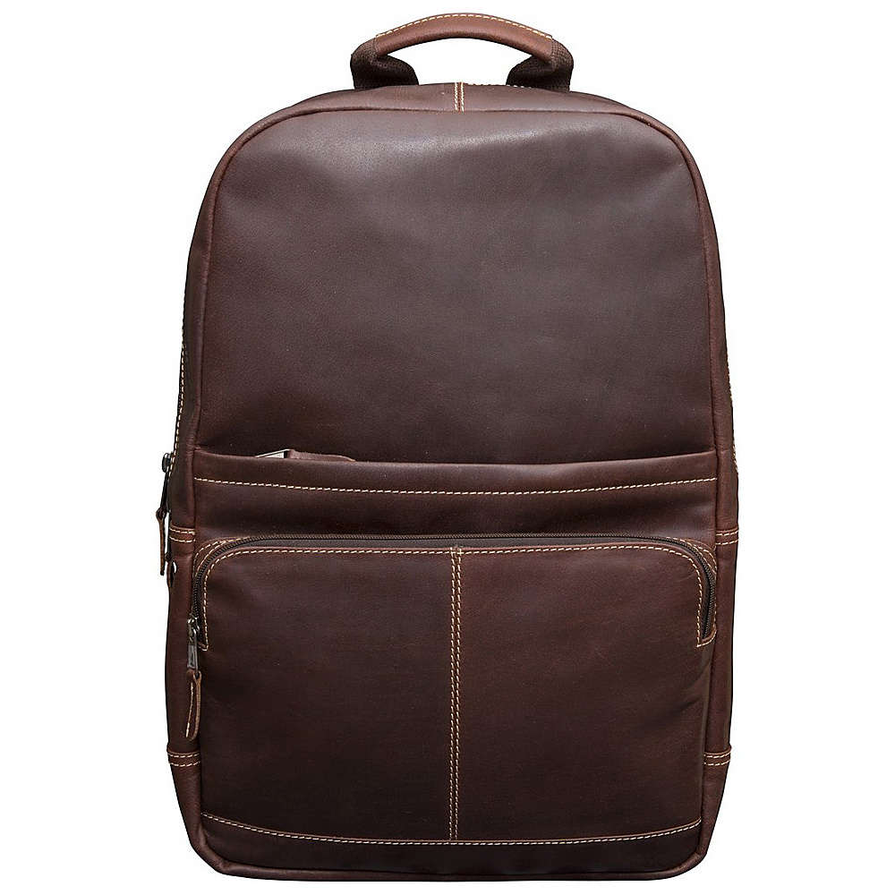 "Canyon Outback Leather Kannah Canyon 17"" Leather Backpack w/ Laptop Compartment Brandy - Canyon Outback Business & Laptop Backpacks"