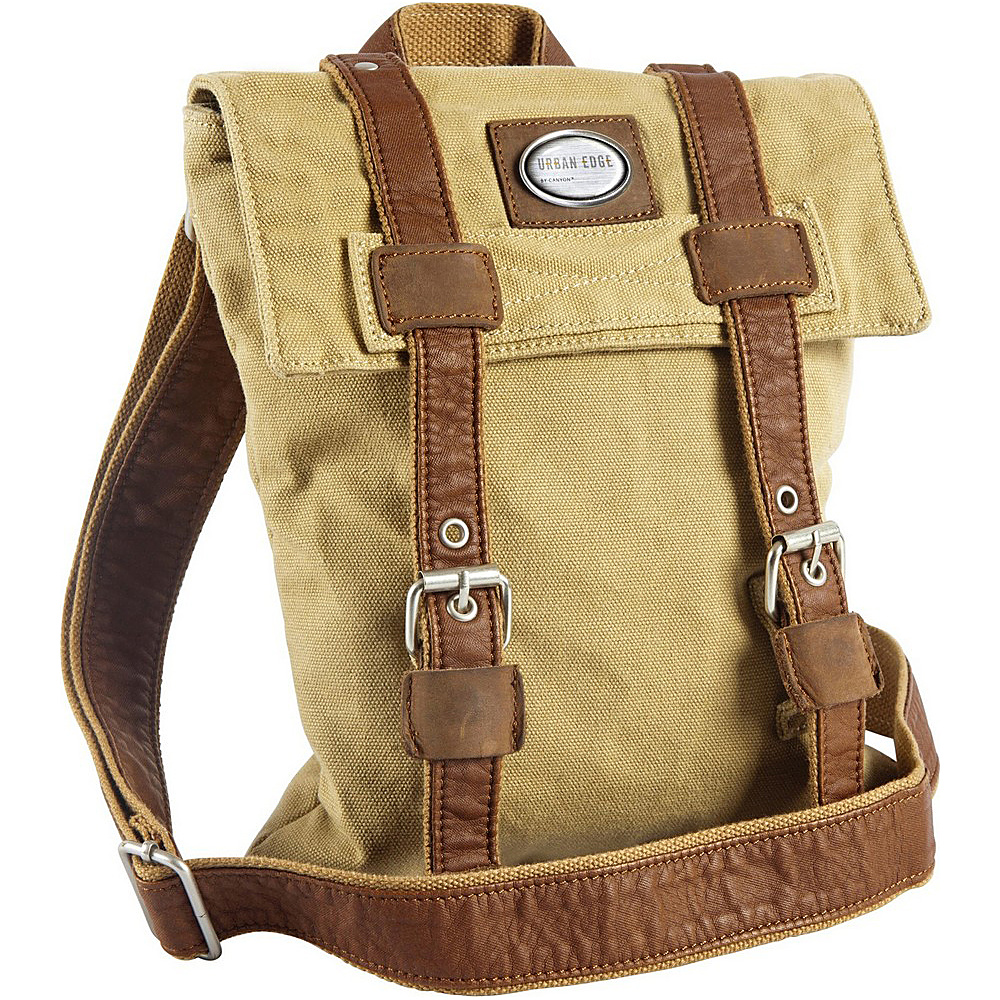 Canyon Outback Urban Edge Ezra Canvas Media Bag Beige Canyon Outback Messenger Bags