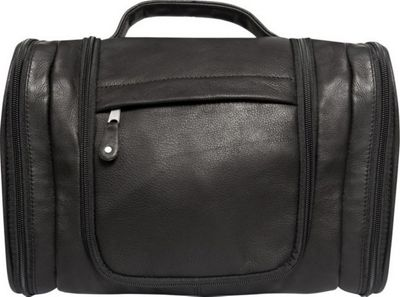 Canyon Outback Leather Hackberry Canyon Hanging Leather Toiletry Bag Black - Canyon Outback Toiletry Kits