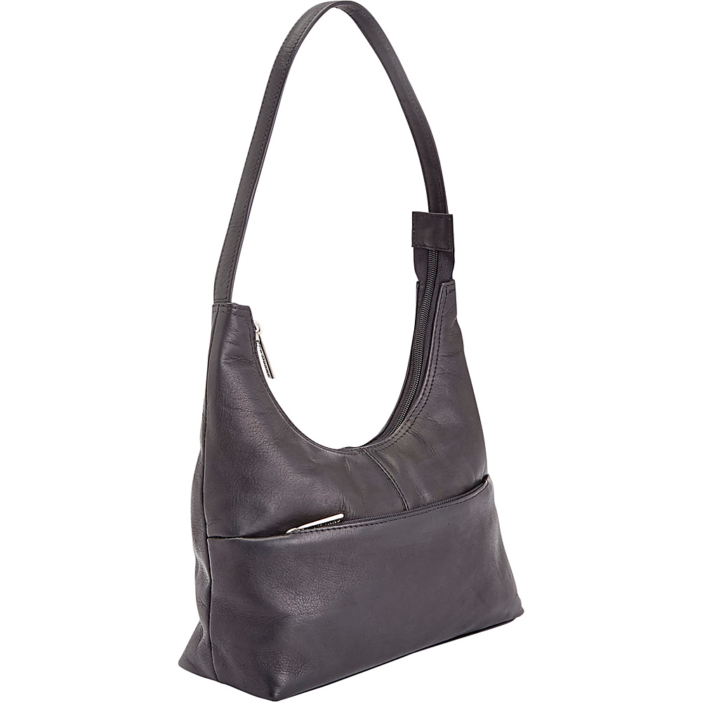 Royce Leather Womens Colombian Leather Shoulder Bag Black - Royce Leather Leather Handbags - Handbags, Leather Handbags