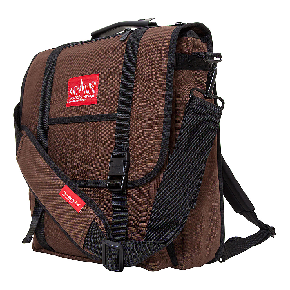 Manhattan Portage Commuter Laptop Bag Dark Brown - Manhattan Portage Other Mens Bags - Work Bags & Briefcases, Other Men's Bags