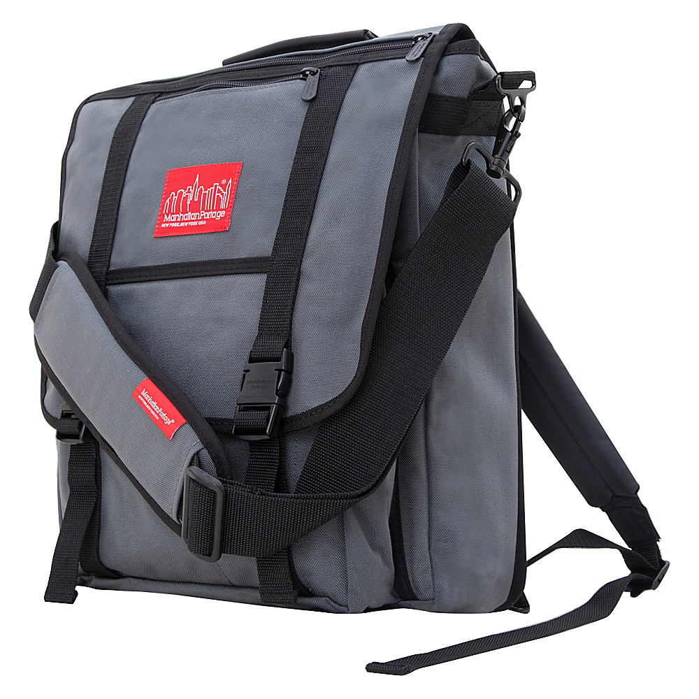 Manhattan Portage Commuter Laptop Bag Gray - Manhattan Portage Other Mens Bags - Work Bags & Briefcases, Other Men's Bags