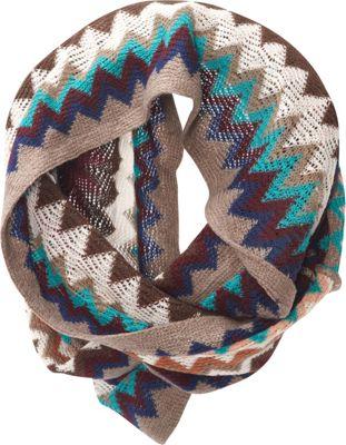 Jessica McClintock Scarves Multi Color ZigZag Infinity Scarf Multi - Jessica McClintock Scarves Hats/Gloves/Scarves