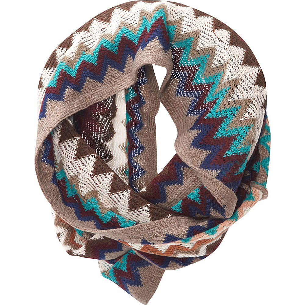 Jessica McClintock Scarves Multi Color ZigZag Infinity Scarf Multi - Jessica McClintock Scarves Hats/Gloves/Scarves