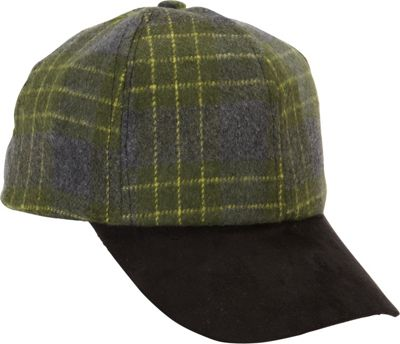 Magid Plaid Baseball Cap One Size - Green/Black - Magid Hats/Gloves/Scarves 10392595