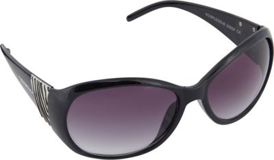 SouthPole Eyewear Oval Zebra Print Sunglasses Black - SouthPole Eyewear Sunglasses