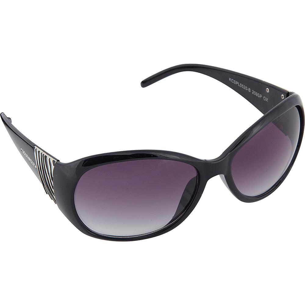 SouthPole Eyewear Oval Zebra Print Sunglasses Black SouthPole Eyewear Sunglasses