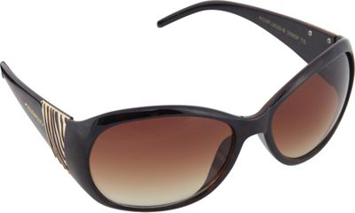 SouthPole Eyewear Oval Zebra Print Sunglasses Tortoise - SouthPole Eyewear Sunglasses