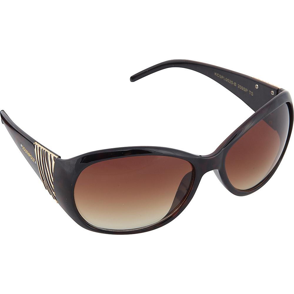 SouthPole Eyewear Oval Zebra Print Sunglasses Tortoise SouthPole Eyewear Sunglasses