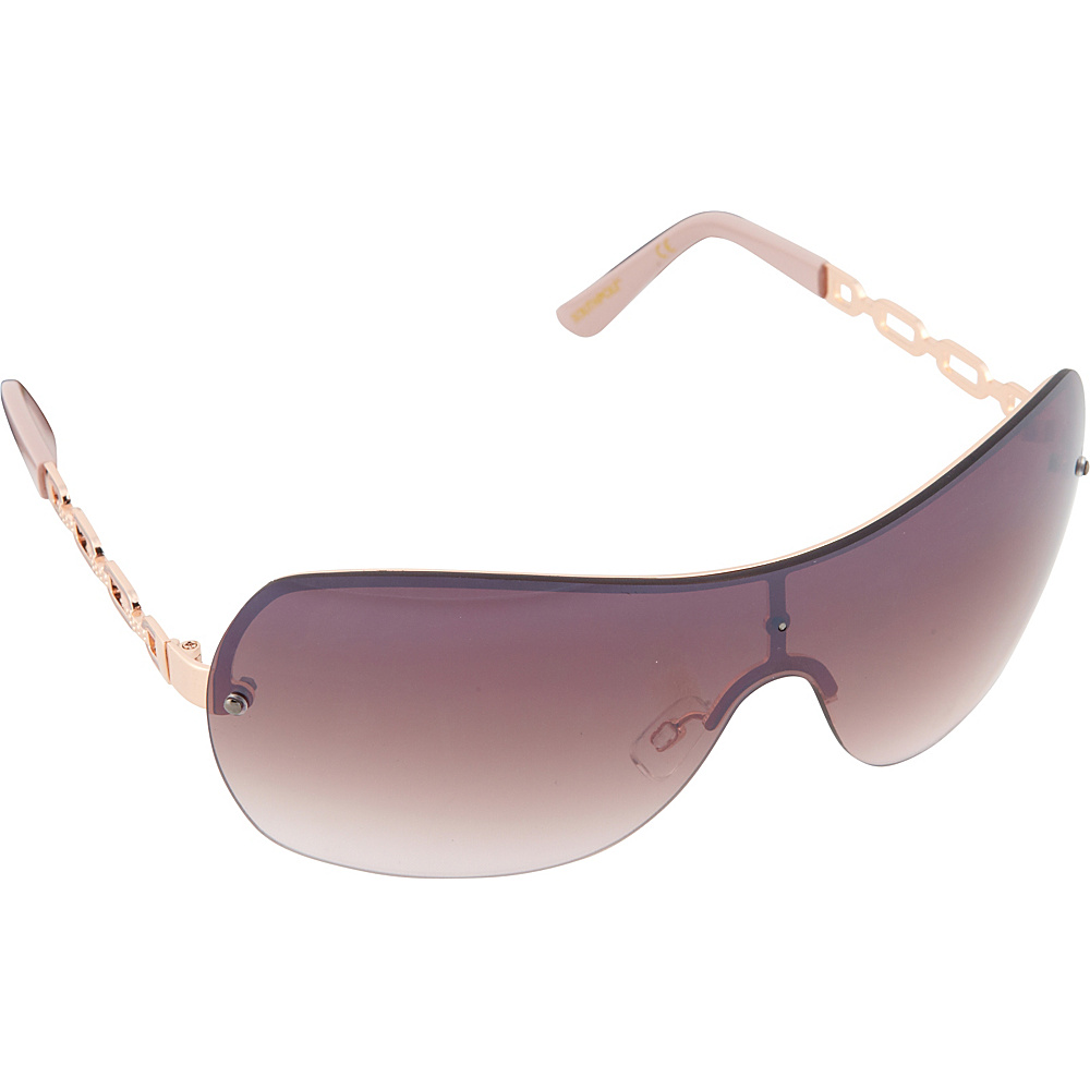 SouthPole Eyewear Metal Shield Sunglasses Rose Gold Rose SouthPole Eyewear Sunglasses
