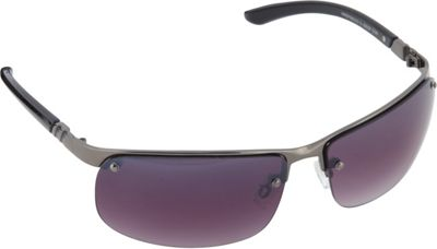 SouthPole Eyewear Semi Rimless Rectangle Sunglasses Gun - SouthPole Eyewear Sunglasses