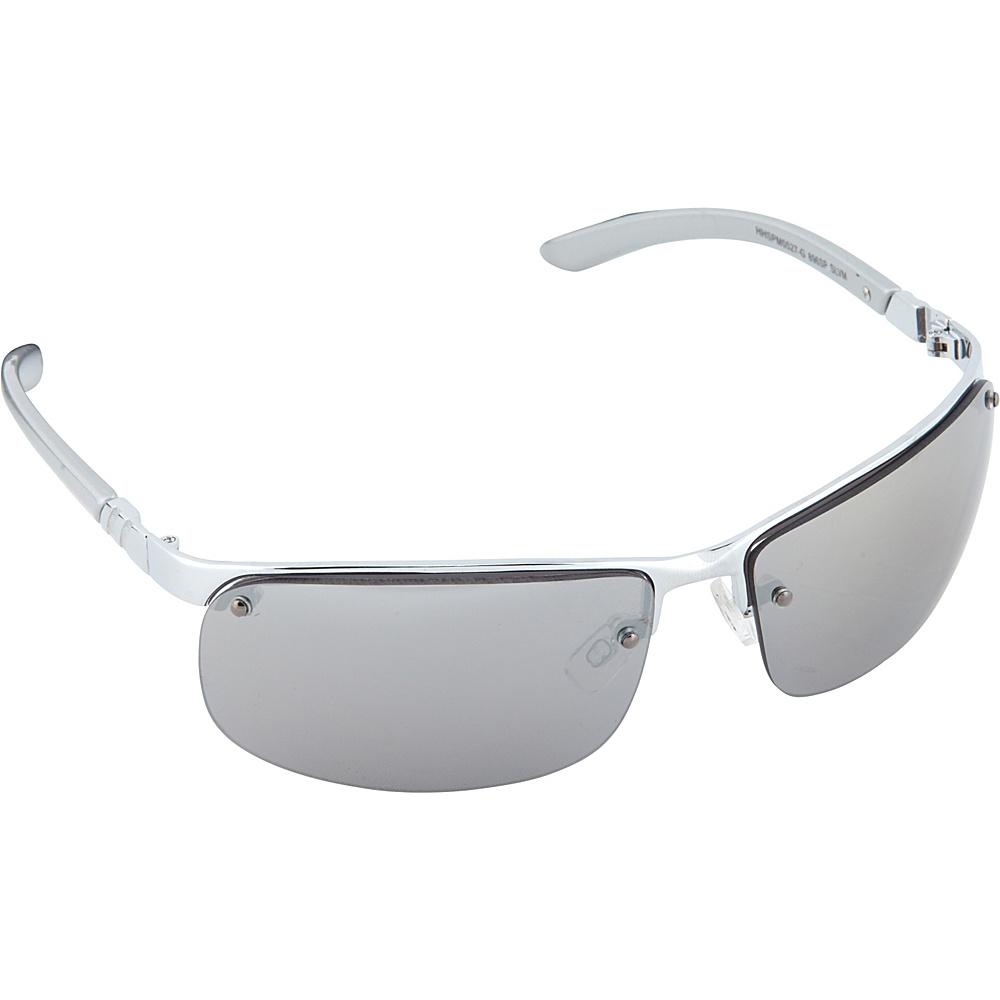 Rimless Rectangle Glasses : SouthPole Eyewear Semi Rimless Rectangle Sunglasses eBay