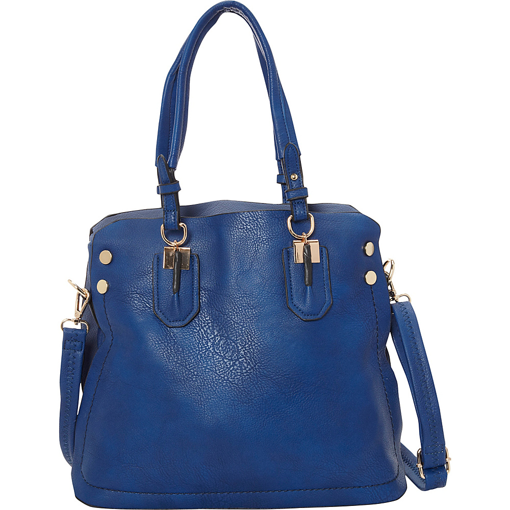 SW Global Adele Shoulder Bag Blue - SW Global Manmade Handbags - Handbags, Manmade Handbags