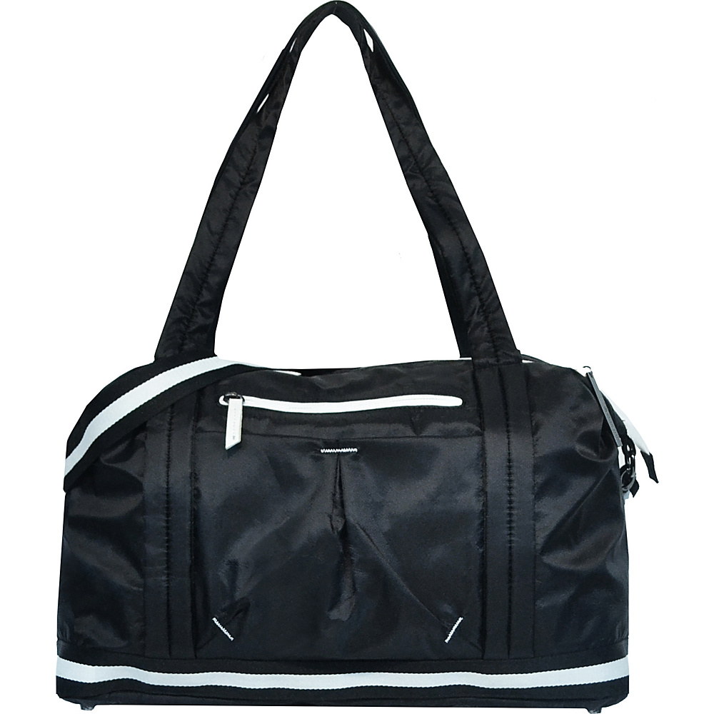 Sherpani Madison Polyester Vegan Leather Duffle Bag Black Sherpani Travel Duffels