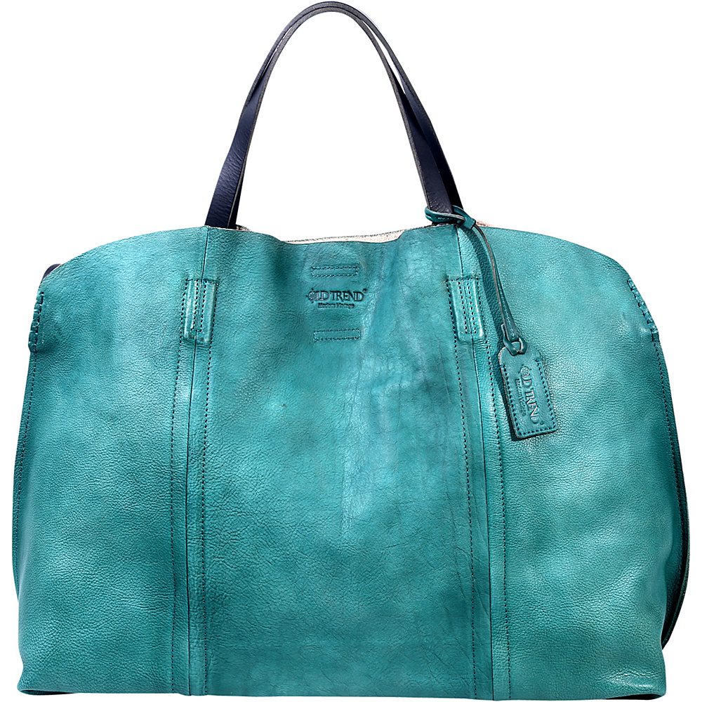 Old Trend Forest Island Tote Aqua Old Trend Leather Handbags