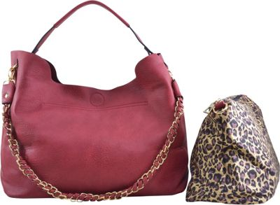 Dasein 2-in-1 Hobo with Organizer Bag Red - Dasein Manmade Handbags