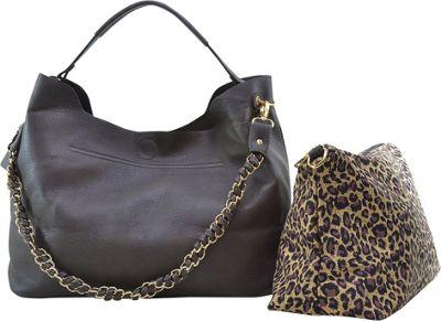 Dasein 2-in-1 Hobo with Organizer Bag Grey - Dasein Manmade Handbags