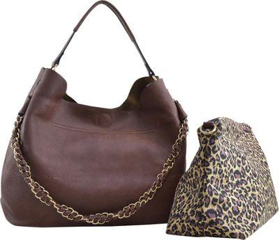 Dasein 2-in-1 Hobo with Organizer Bag Coffee - Dasein Manmade Handbags