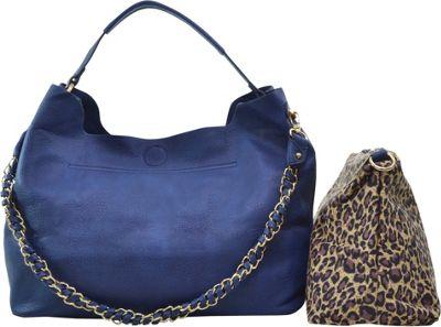 Dasein 2-in-1 Hobo with Organizer Bag Blue - Dasein Manmade Handbags