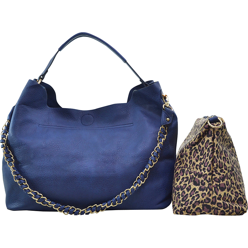 Dasein 2-in-1 Hobo with Organizer Bag Blue - Dasein Manmade Handbags - Handbags, Manmade Handbags