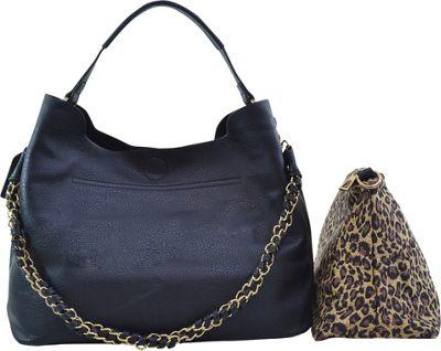 Dasein 2-in-1 Hobo with Organizer Bag Black - Dasein Manmade Handbags