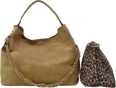 Dasein 2-in-1 Hobo with Organizer Bag Beige - Dasein Manmade Handbags