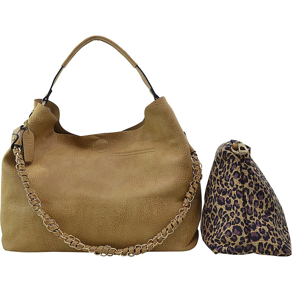Dasein 2 in 1 Hobo with Organizer Bag Beige Dasein Manmade Handbags