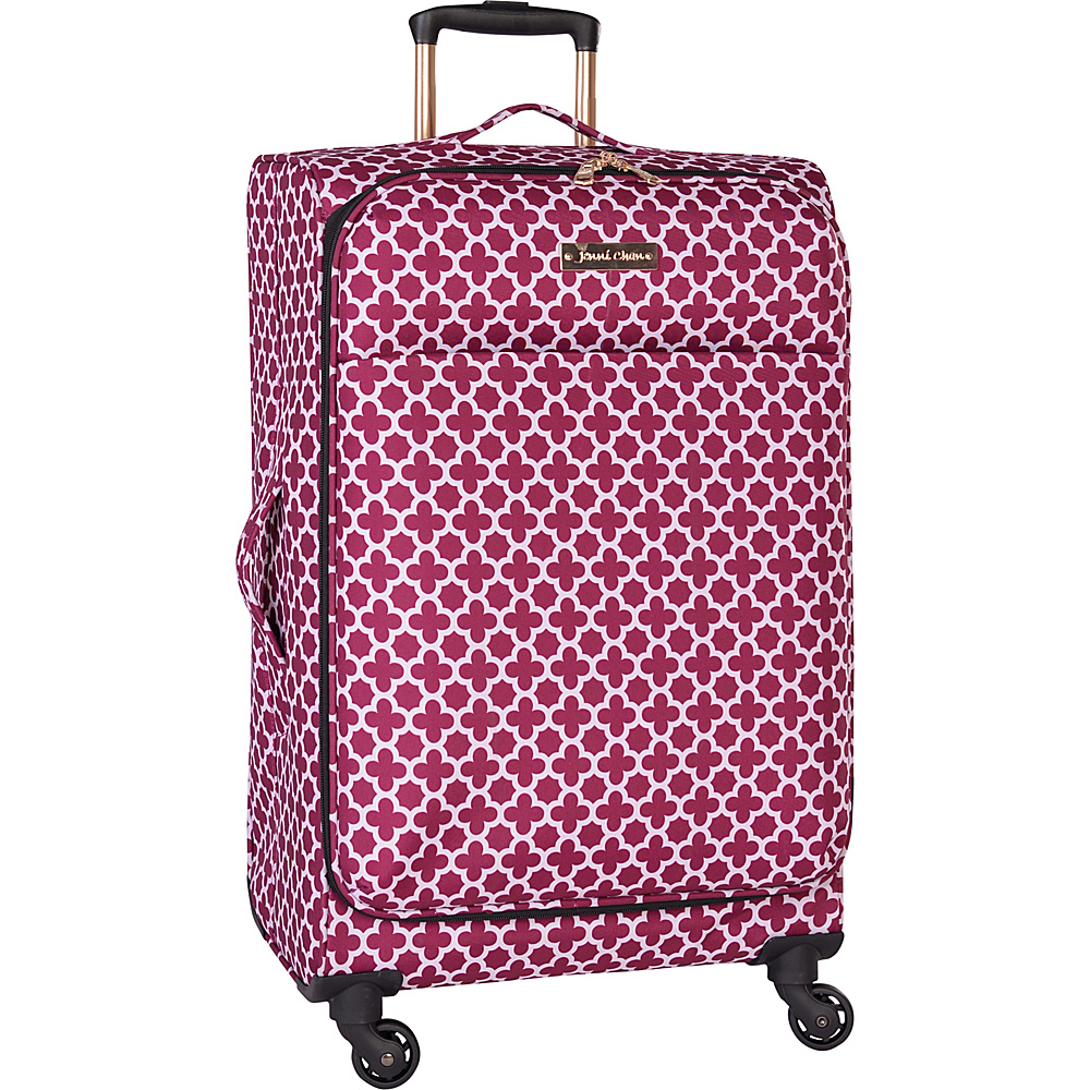 Jenni Chan Aria Broadway 24 Upright Spinner Cranberry Jenni Chan Softside Checked