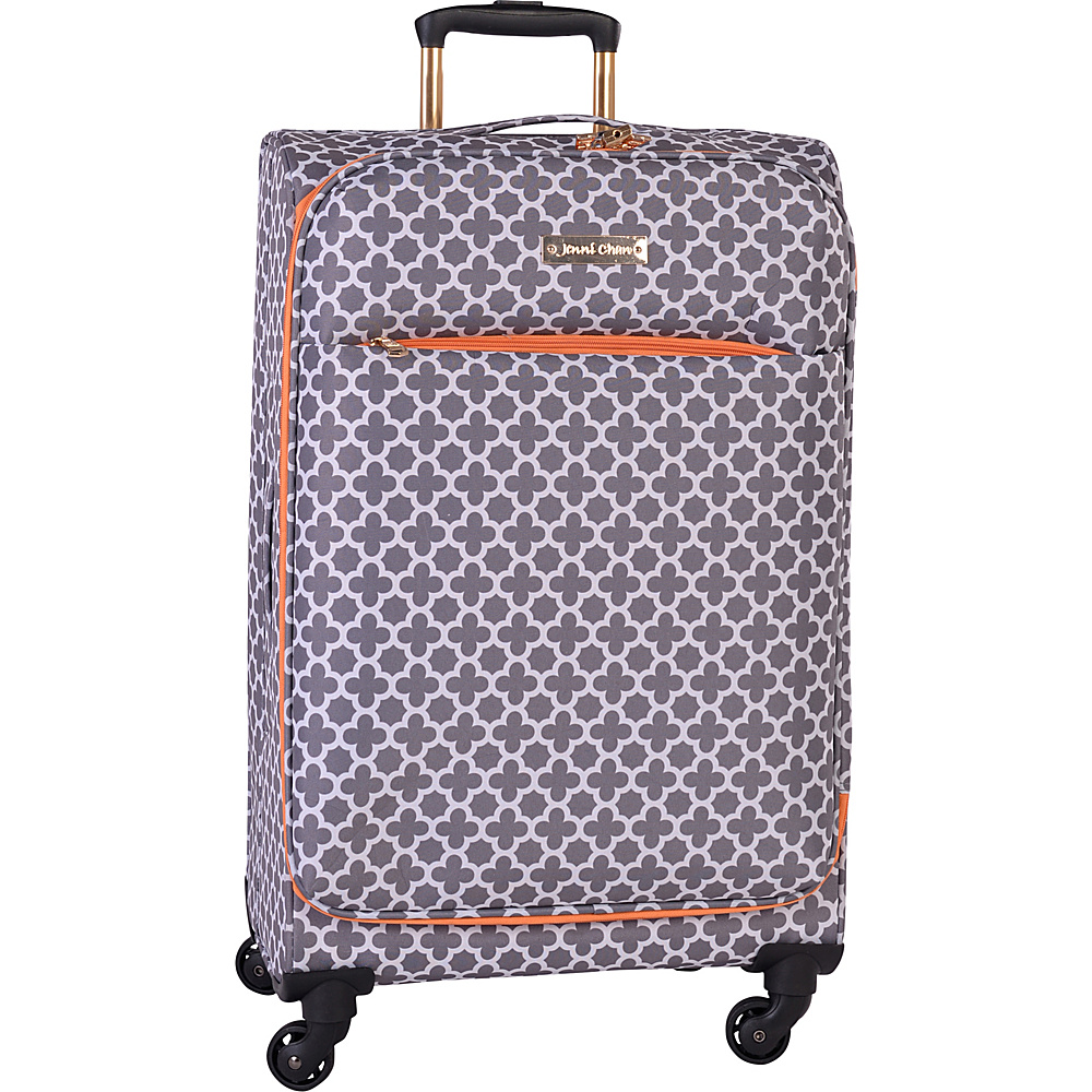 Jenni Chan Aria Broadway 24 Upright Spinner Grey Jenni Chan Softside Checked