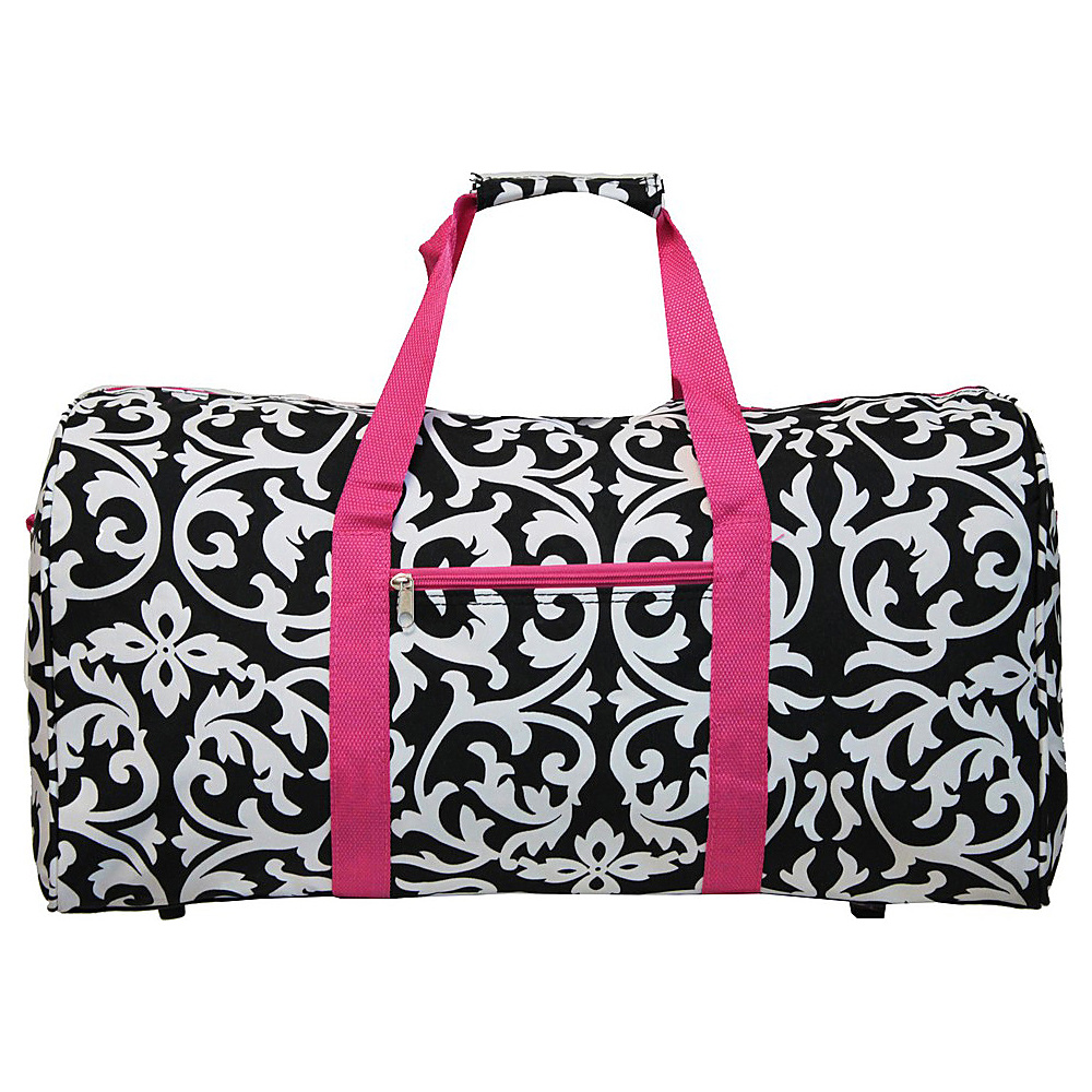 World Traveler Damask 22  Lightweight Duffle Bag Pink Trim Damask - World Traveler Rolling Duffels - Luggage, Rolling Duffels