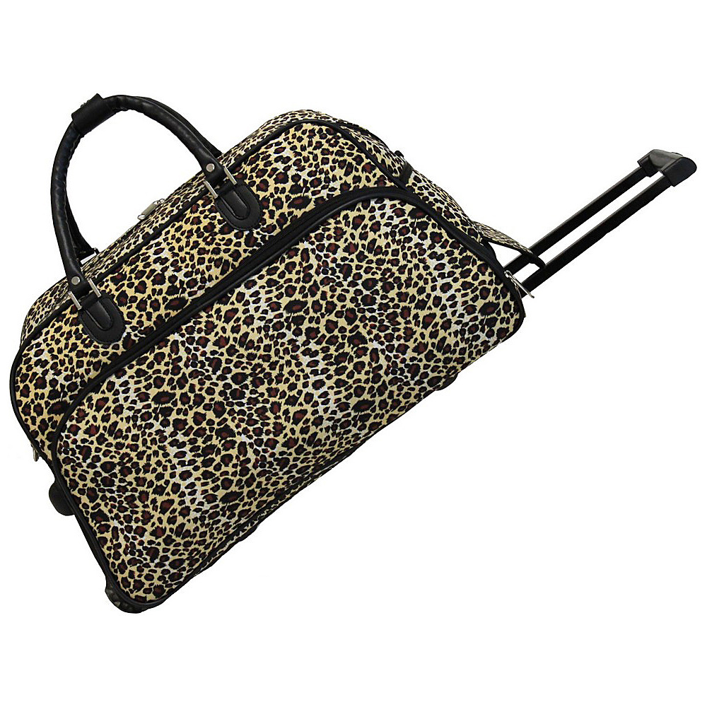 World Traveler Leopard 21 Rolling Duffel Bag Leopard - World Traveler Rolling Duffels - Luggage, Rolling Duffels