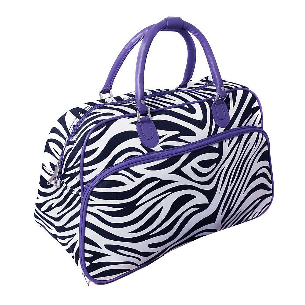 World Traveler Zebra 21 Carry-On Duffel Bag Dark Purple Trim Zebra - World Traveler Rolling Duffels - Luggage, Rolling Duffels
