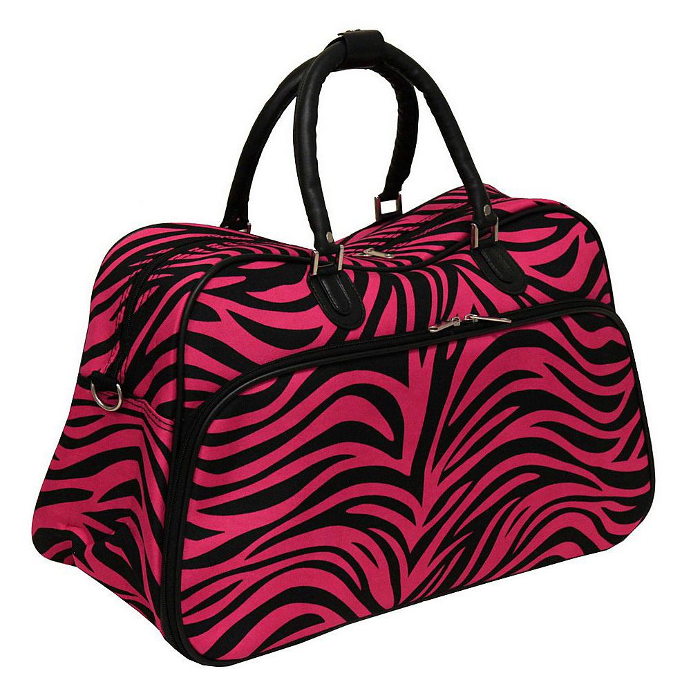 World Traveler Zebra 21 Carry-On Duffel Bag Fuchsia Black Zebra - World Traveler Rolling Duffels - Luggage, Rolling Duffels