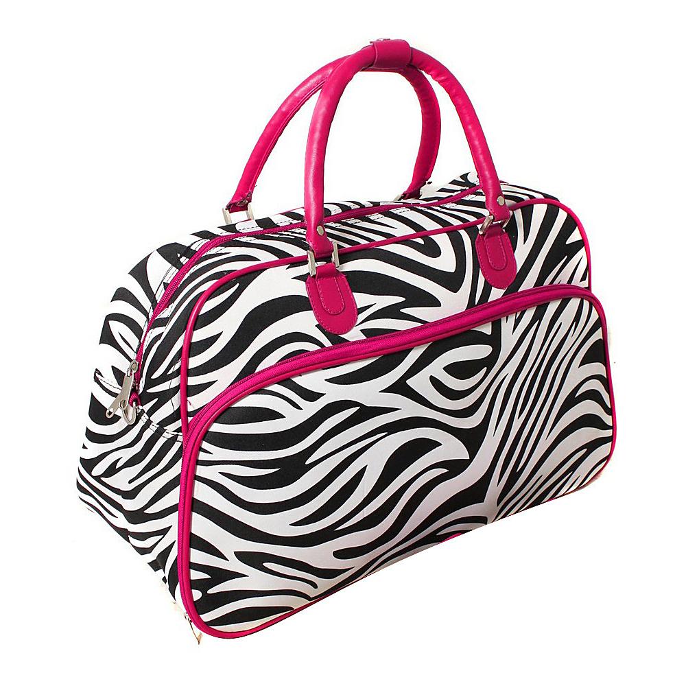 World Traveler Zebra 21 Carry-On Duffel Bag Pink Trim Zebra - World Traveler Rolling Duffels - Luggage, Rolling Duffels