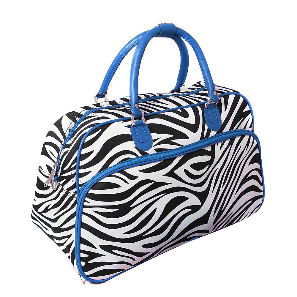 World Traveler Zebra 21 Carry-On Duffel Bag Blue Trim Zebra - World Traveler Rolling Duffels - Luggage, Rolling Duffels
