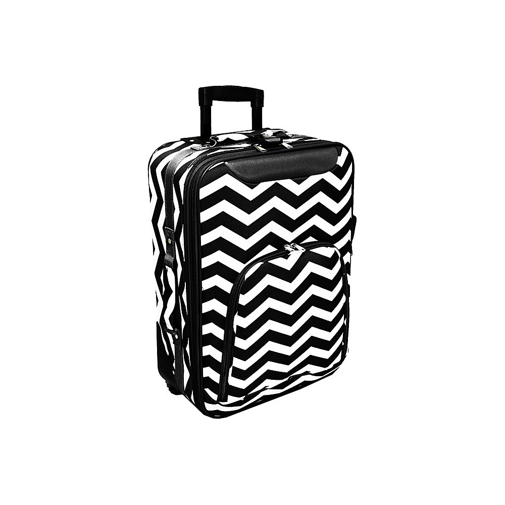 World Traveler Chevron 20 Rolling Carry-On Black White Chevron - World Traveler Softside Carry-On - Luggage, Softside Carry-On