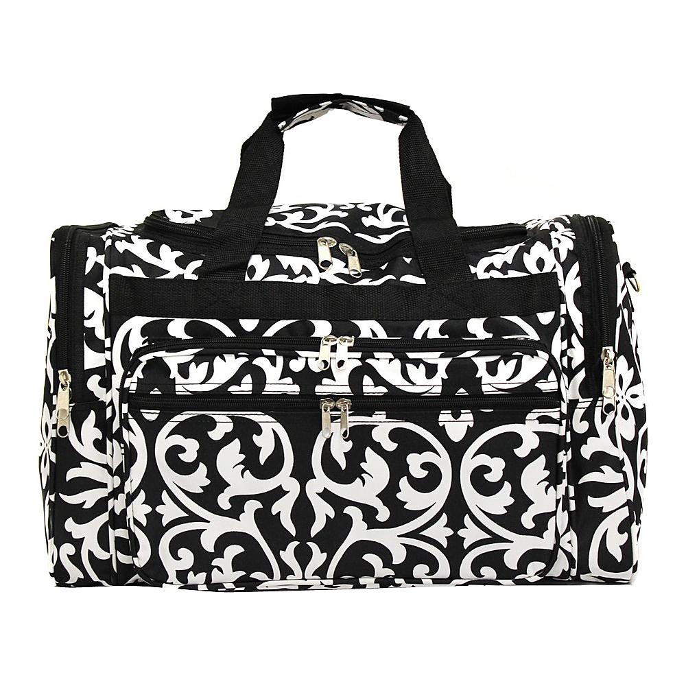World Traveler Damask 19 Shoulder Duffle Bag Black Trim Damask - World Traveler Rolling Duffels - Luggage, Rolling Duffels