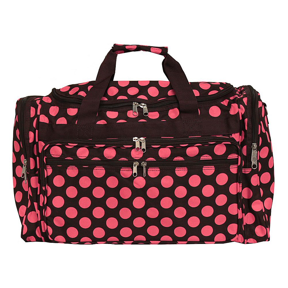 World Traveler Dots ll 19 Shoulder Duffle Bag Brown Pink Dot II - World Traveler Rolling Duffels - Luggage, Rolling Duffels